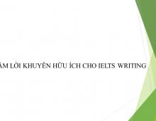 NĂM LỜI KHUYÊN HỮU ÍCH CHO IELTS WRITING