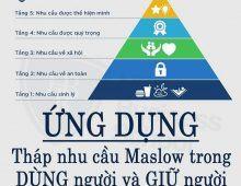 Ứng dụng tháp nhu cầu Maslow trong dùng người và giữ người