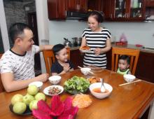 Hình ảnh tiếng Anh chủ đề công việc hàng ngày trong gia đình cho bé